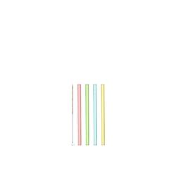 LEONARDO Trinkhalme Glastrinkhalm 4er Set Ciao, (4, 4-tlg), Geschmacksneutral bunt