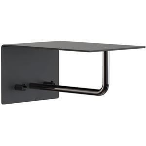 Frost - Unu Wandgarderobe mit Haken und Stange, 200 mm, schwarz / schwarz
