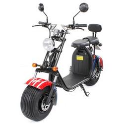 eFlux Harley Two Elektro Scooter mit Straßenzulassung 1500 Watt 60 Volt US Flagge