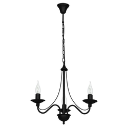 Licht-Erlebnisse Kronleuchter ROSABELLA Schwarzer Kronleuchter Metall rustikal Esstisch Wohnzimmer Lampe