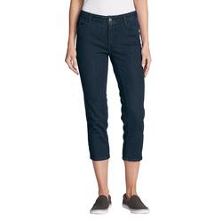 Eddie Bauer  Elysian 3/4-Jeans - Curvy Fit Damen Blau Gr. 4