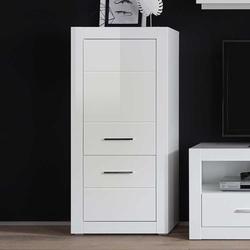 Wohnzimmer Highboard in Weiß 65 cm breit