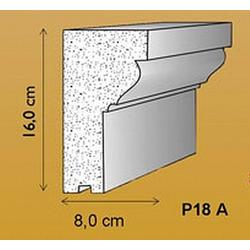 P18A Fassadenstuck Leiste Gesims Profil Styroporstuck Fassadenprofile 160x80mm 300cm