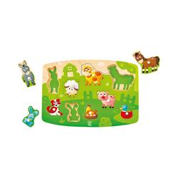Hape Steckpuzzle Bauernhofpuzzle, Puzzleteile