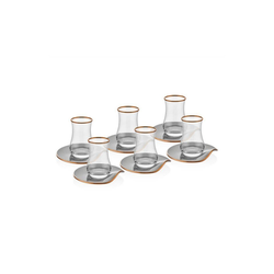 Neva Teeglas Neva Grizay Teegläser Plus 12-teiliges Tee-Set, Glas grau