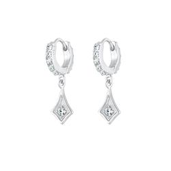 Elli Elli Ohrringe Creole Einhänger Swarovski® Kristalle 925 Silber
