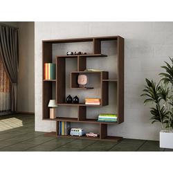 moebel17 Standregal Bücherregale Sarmasik Wenge, mit ausgefallenem Design