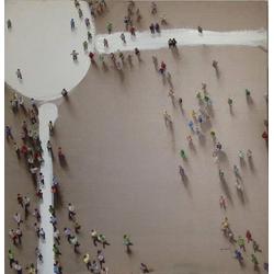 Kayoom Ölbild Menschengruppe, 100cm x 100cm
