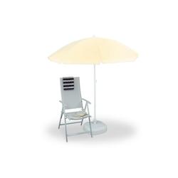 relaxdays Sonnenschirm Sonnenschirm 180 cm Spannweite gelb