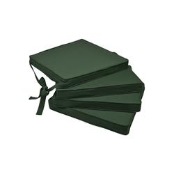 Beautissu Stuhlkissen Loft SK, 4er Set Sitzkissen 45x40x5cm grün