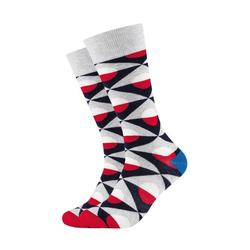 Fun Socks Socken Grey Graphic (2-Paar) mit stylischem Muster