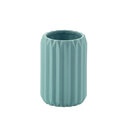 Becher Origami Keramik aqua 10,5cm 7,5cmØ
