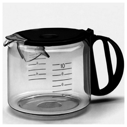Braun Kaffeekanne KFK 10 L - Glaskanne - schwarz
