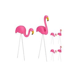 relaxdays Gartenfigur 6 x Flamingo Figur