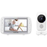 """Motorola Baby MBP 485 - Babyphone mit Kamera - 5"""" Bildschirm - Temperatur, Mikrofon, Zoom, Schlaflieder - Weiß"""