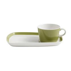 Nordal Tasse & Platte für Kaffee & Kuchen Grün