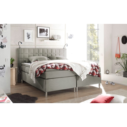 Black Red White Boxspringbett Victoria 3 in beige