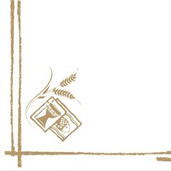 """Mank Linclass Servietten Festival """"Kommunion / Konfirmation"""", Airlaid, 40 x 40 cm, 1/4 Falz, 60 g, 1 Karton = 6 x 50 Stück = 300 Servietten"""
