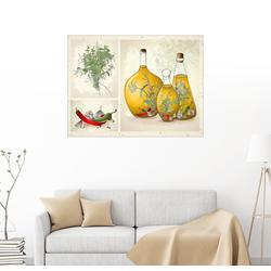 Posterlounge Wandbild, Küchenkräuter Collage 90 cm x 70 cm