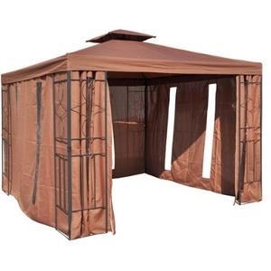Ersatzdach mit PVC Beschichtung für Pavillon,cappuccino Maße: ca. 3x3m