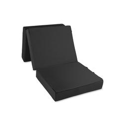 Best-Schlaf-System Gästebett Gästematratze Deluxe mit 4 cm Visko Matratze: 75 x 195 x 15 cm Hocker: 75 x 65 x 45 cm