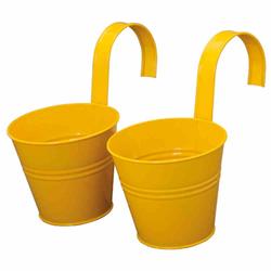 SIENA GARDEN Blumentopf 2er Set, gelb, Ø16x14,5 cm