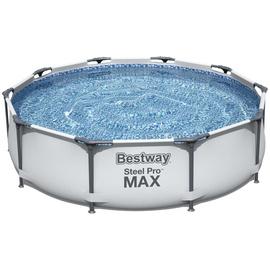 BESTWAY Steel Pro Max Frame Pool Set 305 x 76 cm inkl. Filterpumpe