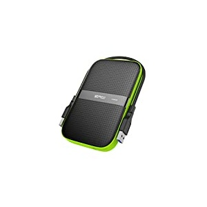 Silicon Power 5 TB External Portable Hard Drive Rugged Armor A60 Shockproof Water-Resistant 2.5-Inch USB 3.1, Military Grade Mil-Std-810G & IPX4, Black(Fbe-SU050TBPHDA60S3KFE)