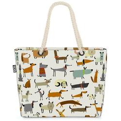 VOID Strandtasche (1-tlg), Hunderassen Party Beach Bag Spazieren gehen Gassi Hund Hunde-Rasse Schäferhunde