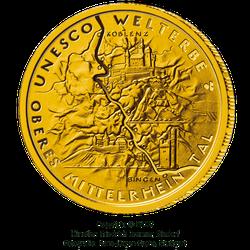 1/2 Unze Gold 100 Euro Deutschland 2015 UNESCO Welterbe - Mittelrheintal
