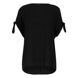 Kurzarmbluse Bluse mit 1/2-Arm Emilia Lay schwarz