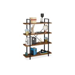 relaxdays Bücherregal Bücherregal Industrial mit 4 Ebenen