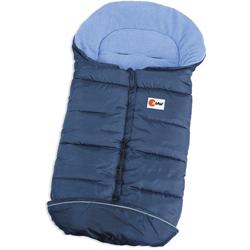 KHW Fußsack Schlittensack Husky blau Kinder Schlafsäcke Camping Schlafen Outdoor Schlafsack
