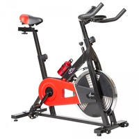 Tectake Fitnessbike schwarz/rot