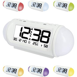 Techno Line WT 499 Funk Wecker Weiß Alarmzeiten 2