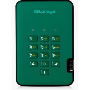 iStorage diskAshur2 HDD 1 TB Schwarz -  Sichere portable externe Festplatte - Passwortschutz, staub- und wasserbeständig, kompakt - Hardware-Verschlüsselung. USB 3.1 IS-DA2-256-1000-GN