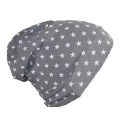 Fiebig Beanie Fiebig Jersey Mütze Sterne grau 49-51