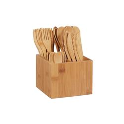 relaxdays Besteck-Set Bambus Besteck Set
