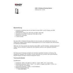 Lindy Usb 3.0 Docking Station Hdmi+Dvi