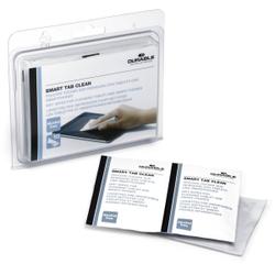 DURABLE Smart Tab Clean Feuchttücher, Displaytücher für die schonende Reinigung empfindlicher Bildschirme, 1 Packung = 10 Stück