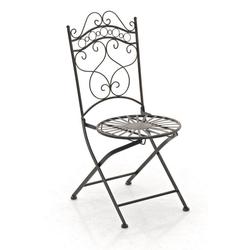 CLP Gartenstuhl Indra handgefertigter Gartenstuhl aus Eisen gelb