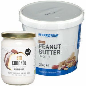 MyProtein Erdnussbutter, fein + nu3 Bio Kokosöl, nativ 1 St Set