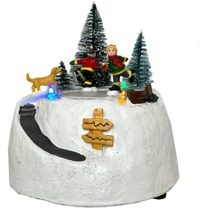 LED Weihnachtsspiel Weihnachtsdorf Beleuchtung Weihnachtsbaum Tischdeko Kinder