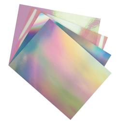 Folia Designpapier Folienmix, irisierend, 12 Bogen