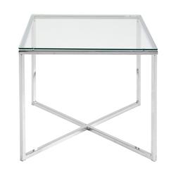 Stolik kawowy Udbina szklany 50x50 cm