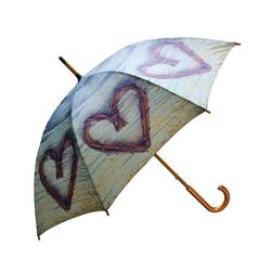 Mars & More Stockregenschirm Mars & More Regenschirm Weiden-Herz