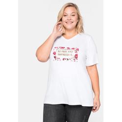 Sheego T-Shirt in figurumspielender Form 56/58