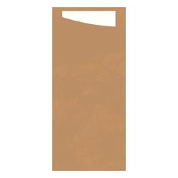 400 Serviettentasche Bestecktasche Packpapier braun natur Duni Sacchetto Serv...