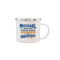 HTI-Living Becher Echter Kerl Emaille Becher Michael