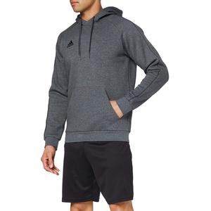 adidas Herren CORE18 Hoody Sweatshirt, Dark Grey Heather/Black, L